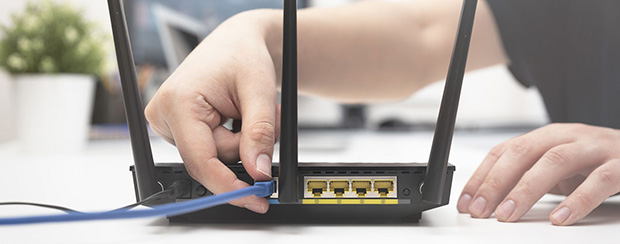 Modem with Ethernet cord