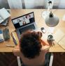 Business internet router sitting on desk